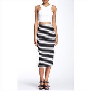 Anthropologie| Sanctuary striped midi pencil skirt